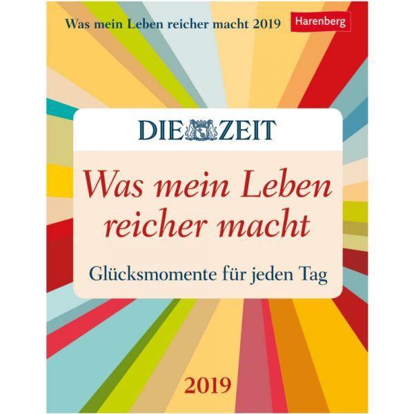 »Was mein Leben reicher macht« Kalender 2019