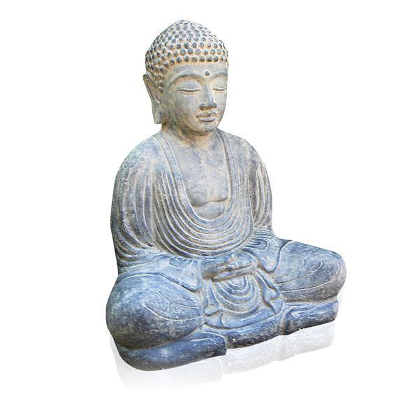 """Gartenskulptur Japanischer Buddha """"Daibutsu"""", Steinguss"""