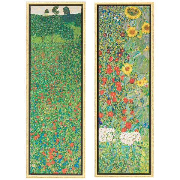 Klimt, Gustav: 2 Bilder »Mohnfeld« und »Sonnenblumen« im Set