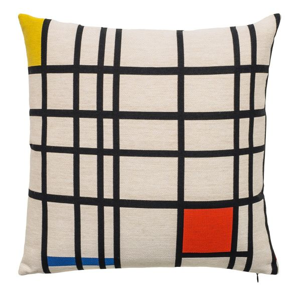 Kissenhülle »Komposition in Rot, Blau und Gelb« nach Piet Mondrian