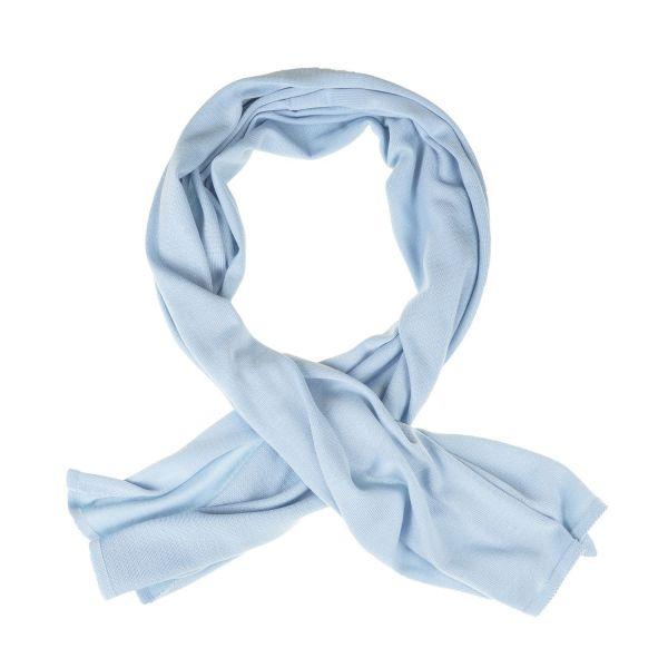 Schal aus 100% extrafeiner Merinowolle Hellblau