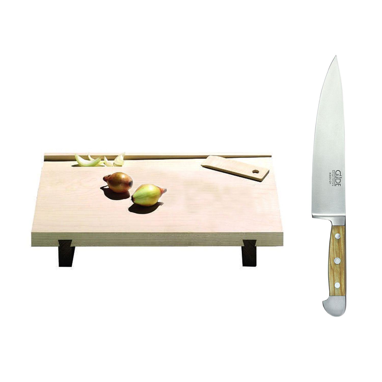 Kochmesser und schneidebrett im set tisch tafel for Design thinking tisch