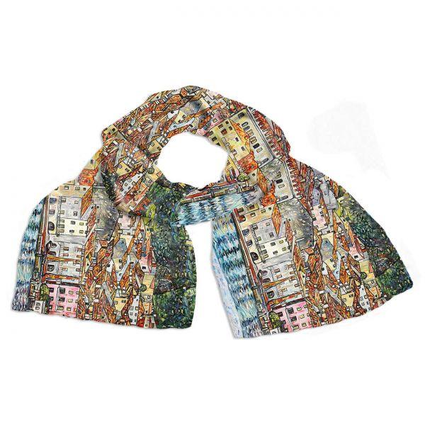 Seidenschal »Malcesine« nach Gustav Klimt