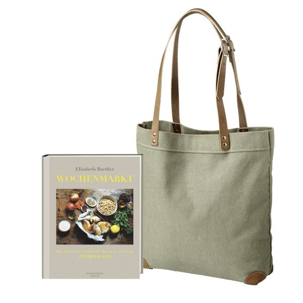 Markttasche und Kochbuch »Wochenmarkt« im Set
