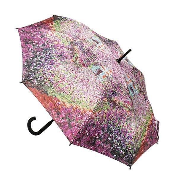Set aus Tasche und Stockschirm »Irisbeet in Monets Garten«