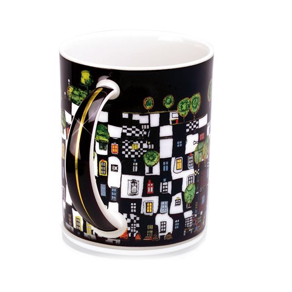 Magic Mug »KunstHausWien«, nach Friedensreich Hundertwasser