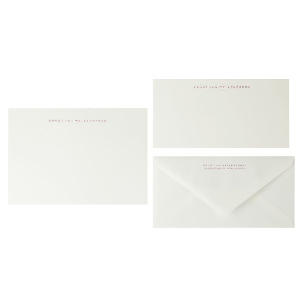 Briefpapier Miniformat, Kirschrot