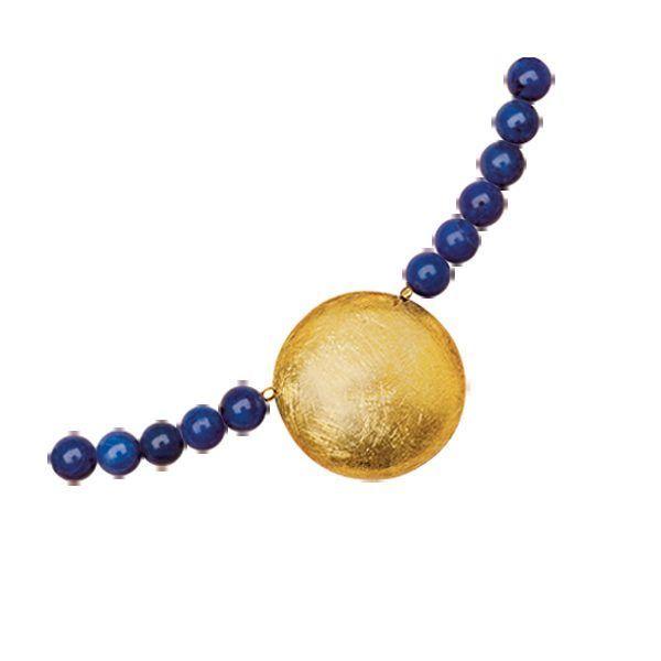 Waszak, Petra: Collier »Sonnenscheibe« mit Lapislazuli-Perlen