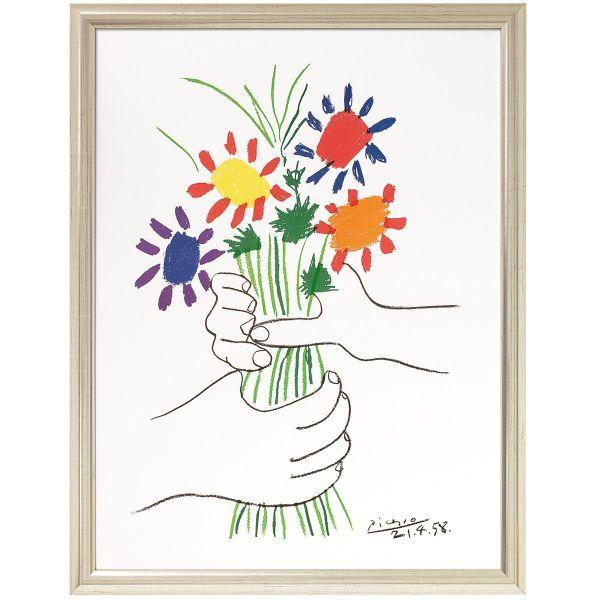 Picasso, Pablo: »Hände mit Blumenstrauß«, 1958