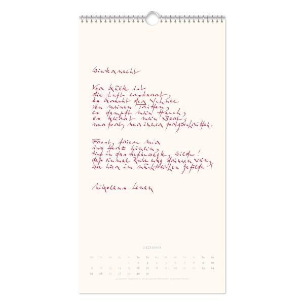 Der Gedichtekalender 2017