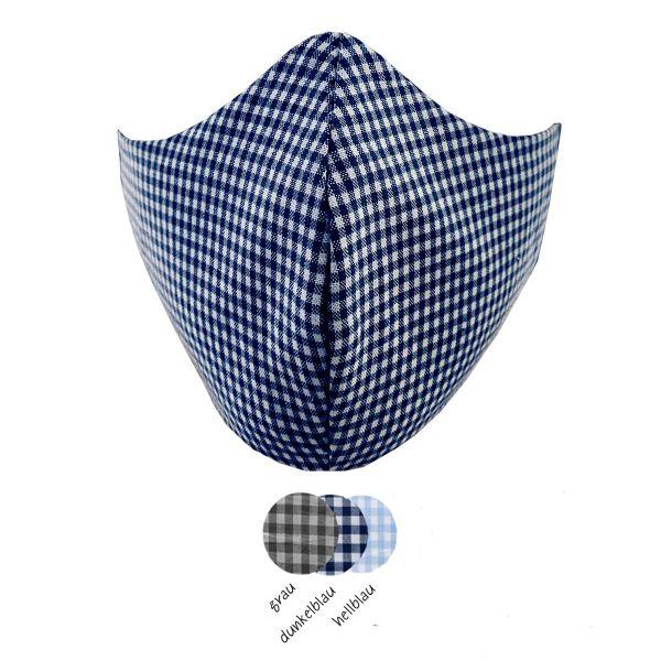 3er Set Masken Premium »Karo«