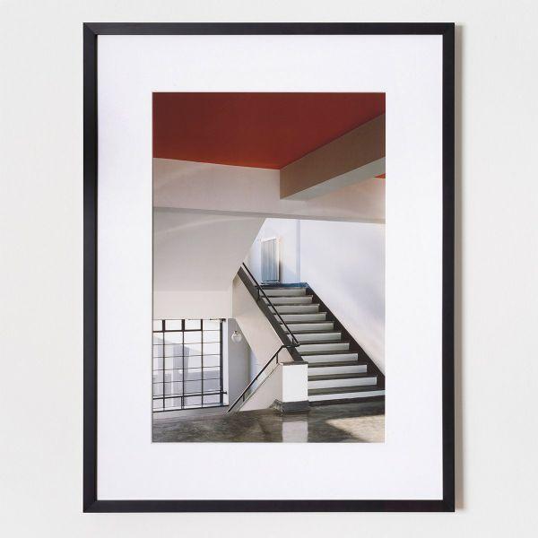 Fotografie von Klaus Kinold »Walter Gropius, Bauhaus Dessau, Haupttreppenhaus, 1992«