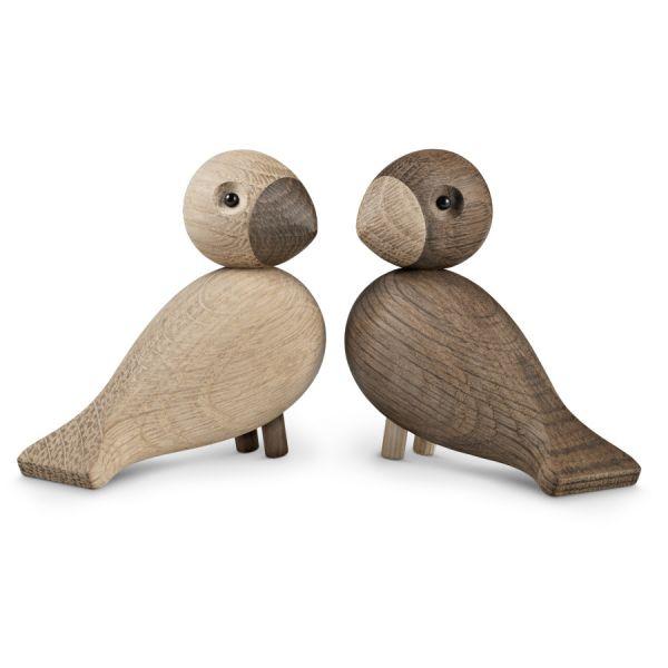Kay Bojesen: 2 Holzfiguren »Turteltauben« im Set