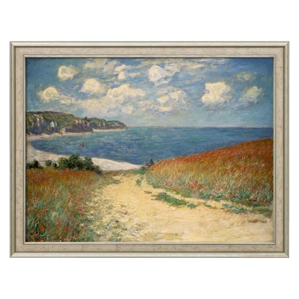 Monet, Claude: »Strandweg zwischen Weizenfeldern nach Pourville«, 1882