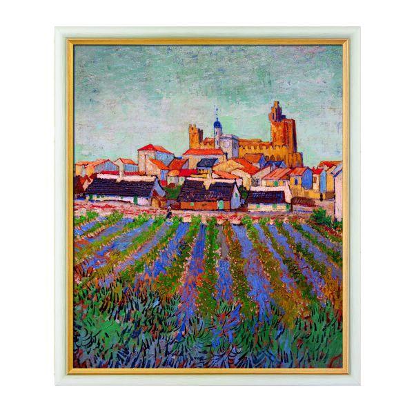 van Gogh, Vincent: »Blick auf Saintes-Maries-de-la-Mer«, 1888