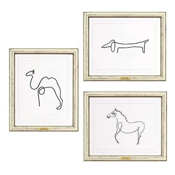 Picasso, Pablo: »Drei Zeichnungen aus einem Strich«