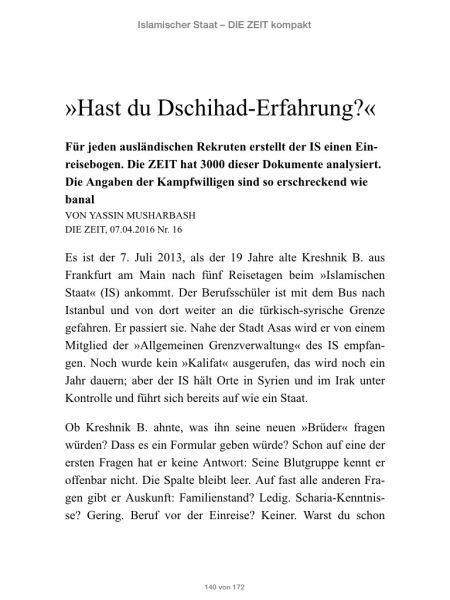»Islamischer Staat - DIE ZEIT kompakt«