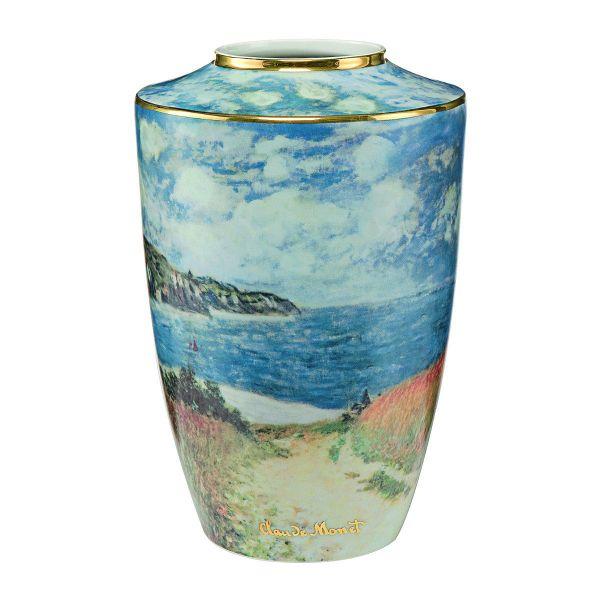 Porzellanvase »Strandweg zwischen Weizenfeldern nach Pourville« nach Claude Monet