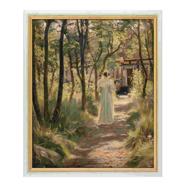 Krøyer, Peder Severin: »Marie, die Frau des Künstlers, auf einem Gartenweg«, 1895