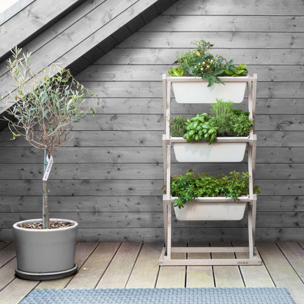 pflanzregal vertical garden blumen pflanzen garten balkon sortiment die zeit shop. Black Bedroom Furniture Sets. Home Design Ideas