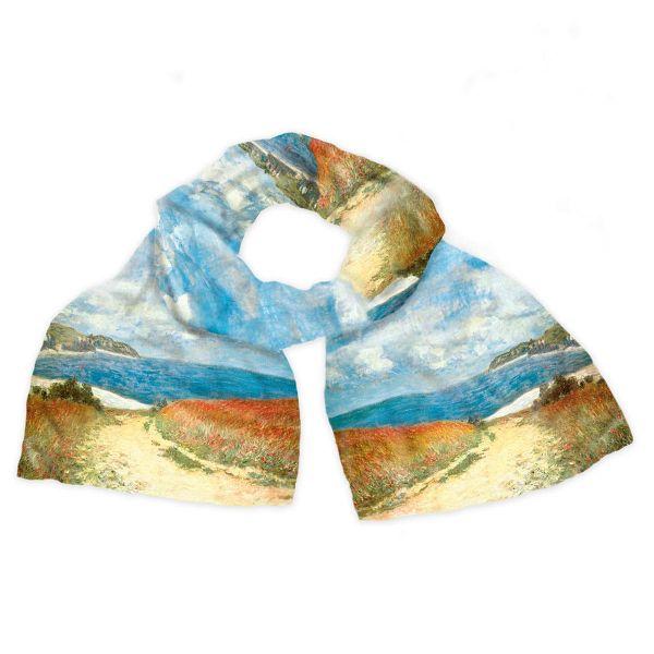 Seidenschal »Strandweg zwischen Weizenfeldern nach Pourville« nach Claude Monet