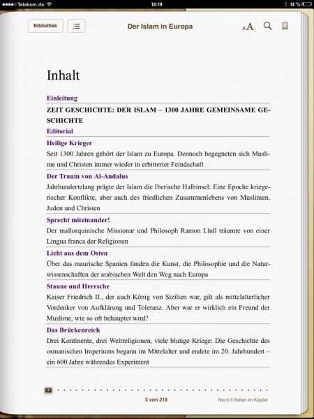 »Der Islam in Europa - 1300 Jahre gemeinsame Geschichte«