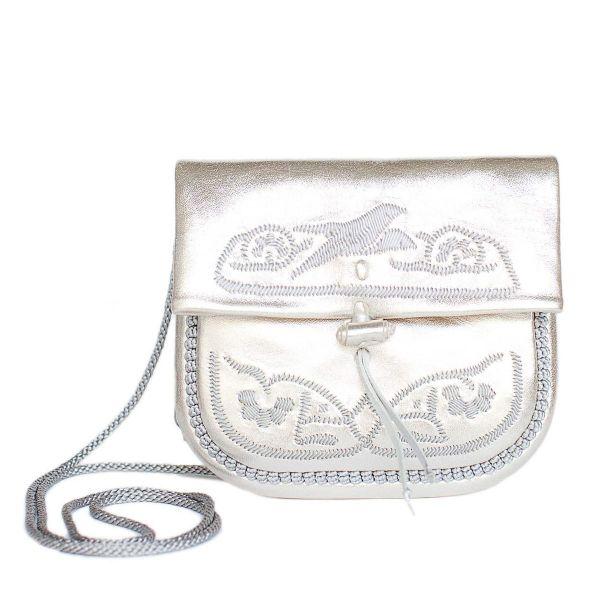 »Berber Bag« Tasche Mini Silber