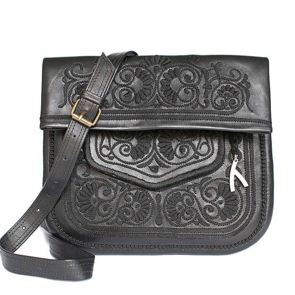 »Berber Bag« Tasche Groß Schwarz