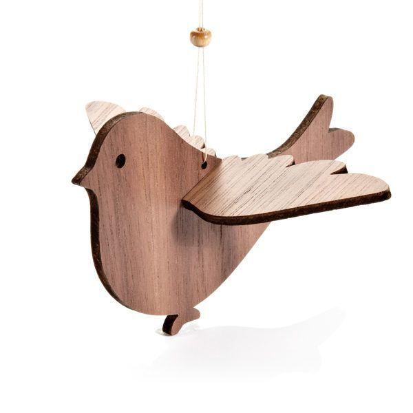 Mobile aus Holz: »Vogelschar«