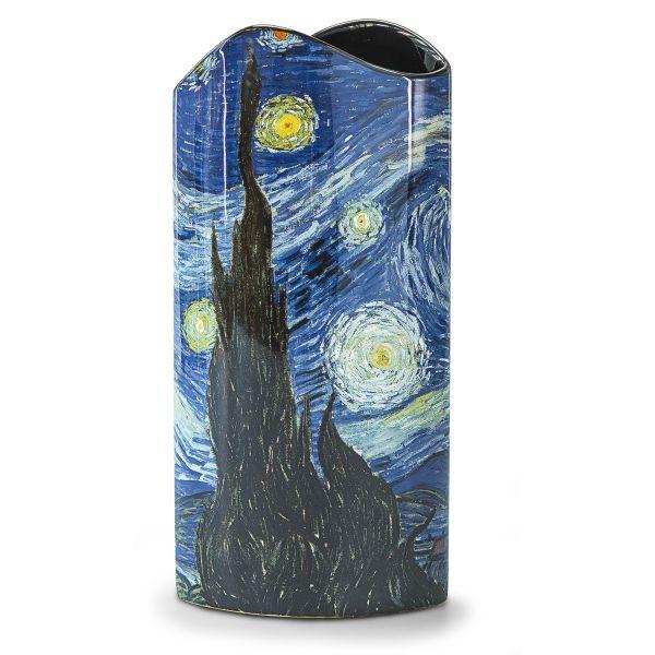 Porzellanvase »Sternennacht über den Rhône«, nach Vincent van Gogh