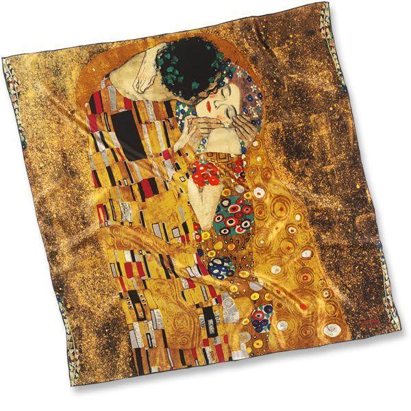 Seidentuch »Der Kuss«, nach Gustav Klimt