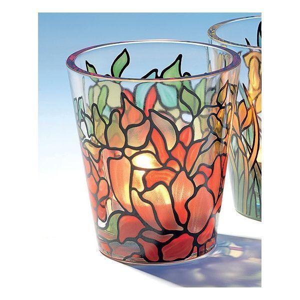 Glas-Windlicht »Osterglocke«, nach Louis C. Tiffany