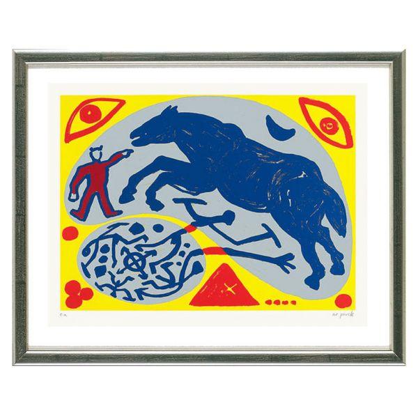 Penck, A.R.: »Das blaue Pferd und der Mongole«, 1996