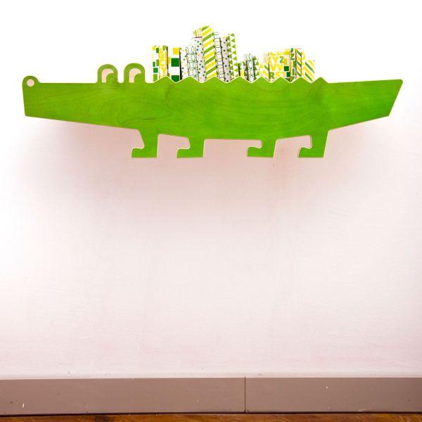 Wandregal »Krokodil«