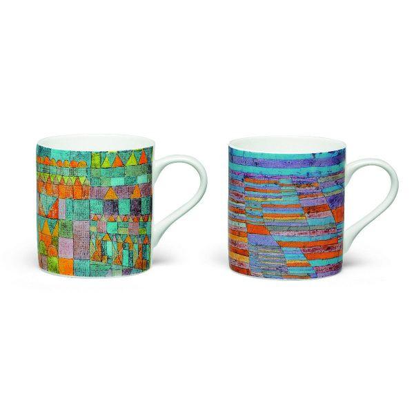 2 Kaffeebecher mit Künstlermotiven im Set nach Paul Klee