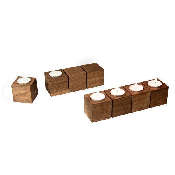 »Viererkette« Teelichterhalter