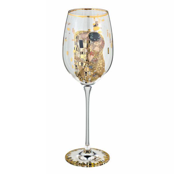 4-teiliges Weingläser-Set nach Gustav Klimt