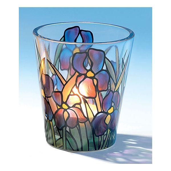 Glas-Windlicht »Iris«, nach Louis C. Tiffany