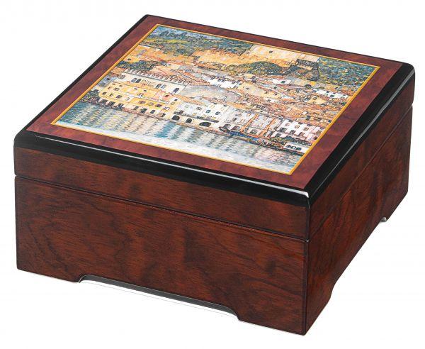 Musik-Schmuckbox »Malcesine«, nach Gustav Klimt