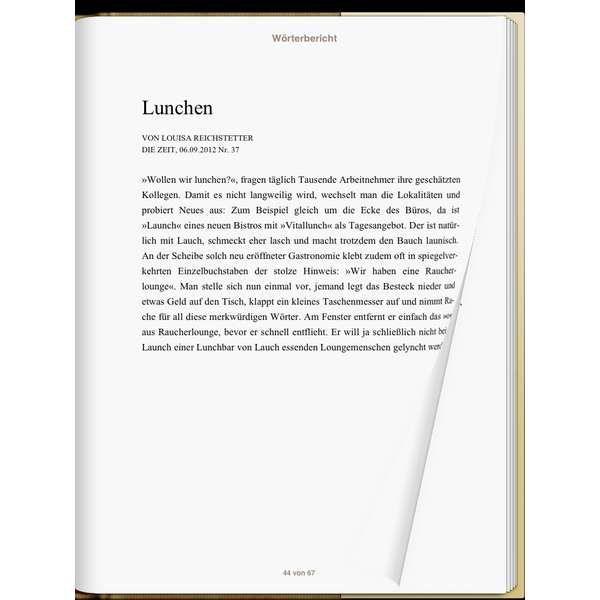 »Wörterbericht«