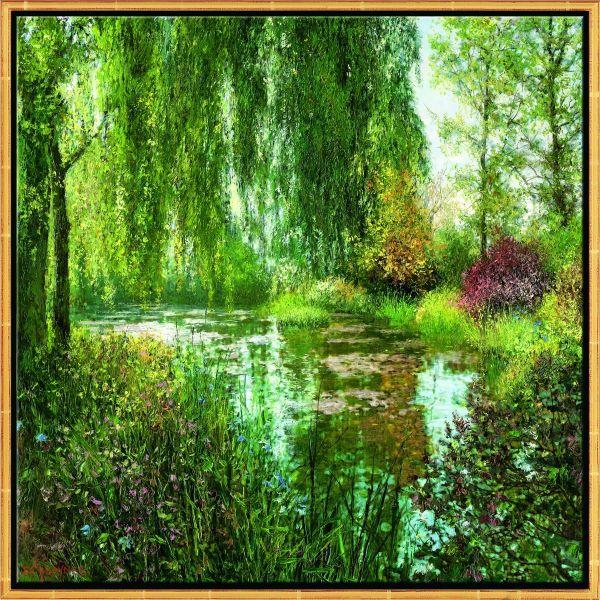 Cubaynes, Jean-Claude: »Giverny le Soir«