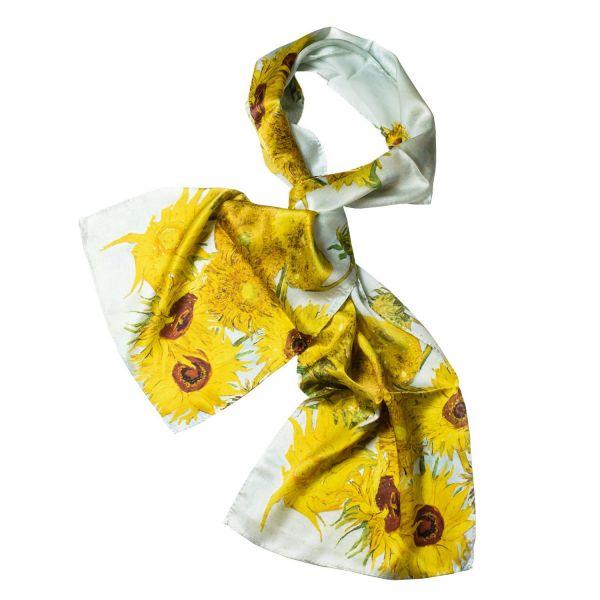 Seidenschal »Sonnenblumen«, nach Petra Waszak