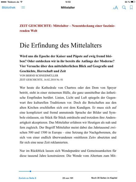 »Das Mittelalter«
