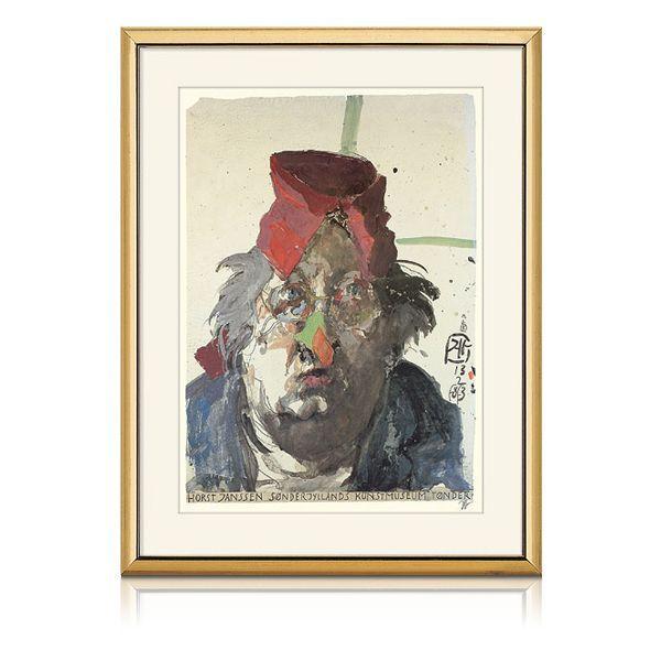 Janssen, Horst: »Clowneskes Selbstporträt«