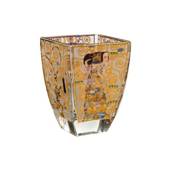 4 Teelichtgläser, nach Gustav Klimt