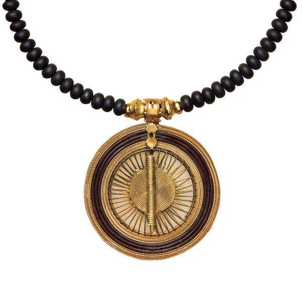 Waszak, Petra: Onyxcollier »Queen of Saba«