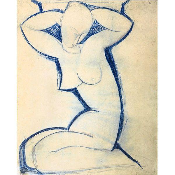 Modigliani, Amedeo: »Cariatide«, 1913/14