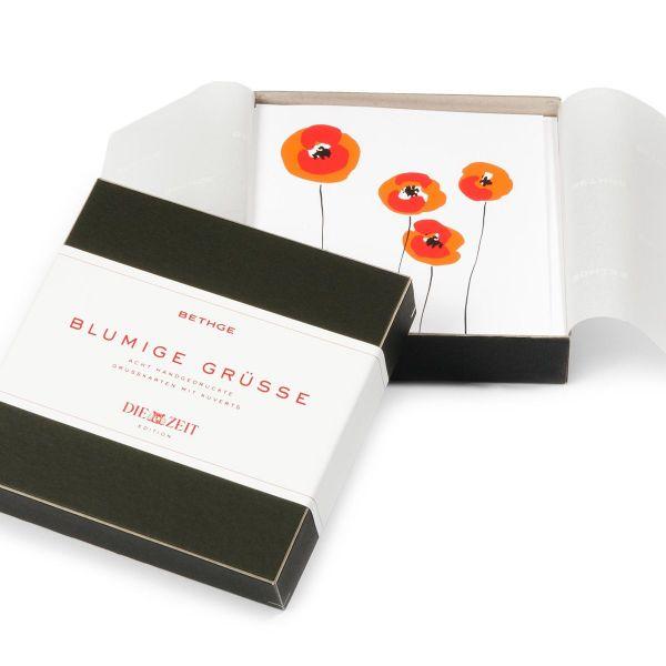 Grußkarten-Set »Blumige Grüße«, 8-teilig