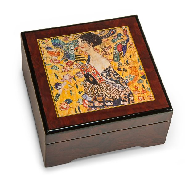 Musik-Schmuckbox »Dame mit Fächer«, nach Gustav Klimt