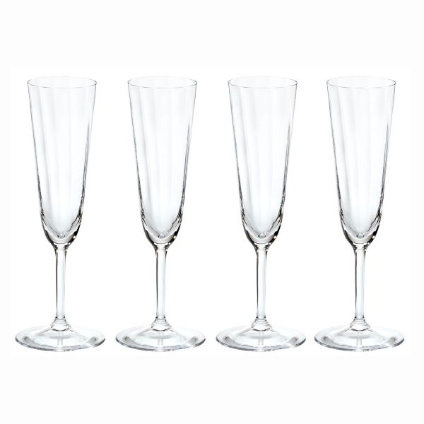 ZEIT-Glasserie von Freiherr von Poschinger Glasmanufaktur, 16-teilig Champagnergläser für DIE ZEIT, 4-teilig